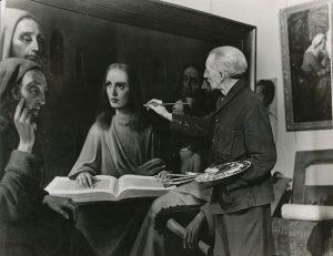 """Хан ван Меегерен, рисующий """"Молодой Христос"""
