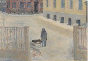 Улица Маркса-Энгельса (жена с собаками), 1991