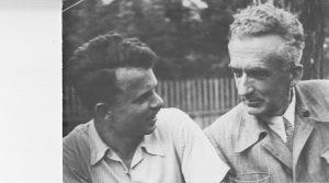 Михаил Рогинский с отцом. 1955