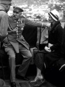 Юзеф и Евгения Левицка на катере (о. Мадейра, 1931)