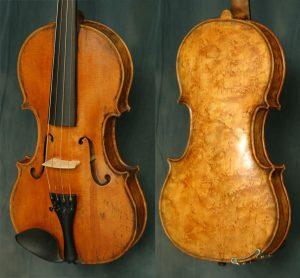 """Скрипка, сделанная из клена типа """"птичий глаз"""""""