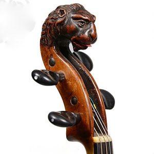 Головка скрипки в форме льва