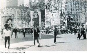 Демонстрация на 5-й Авеню. Нью-Йорк