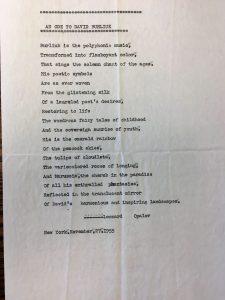 """Стихотворение Опалова на английском """"Ода Бурлюку"""" (1955)"""