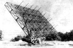 Первый крымский радиотелескоп ФИАН (1949 г.)