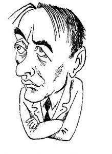 Вадим Шефнер, рисунок М. Беломлинского