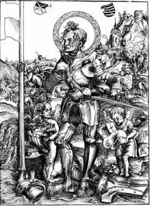 Лука Кранах Старший, Св. Георгий — гравюра, 1506 г.