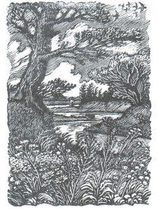 Ф. Константинов. Гравюра из иллюстраций к книге стихов В. Шефнера