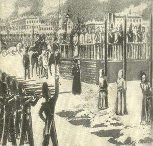 """На картине отмененная в последнюю минуту казнь """"петрашевцев"""","""