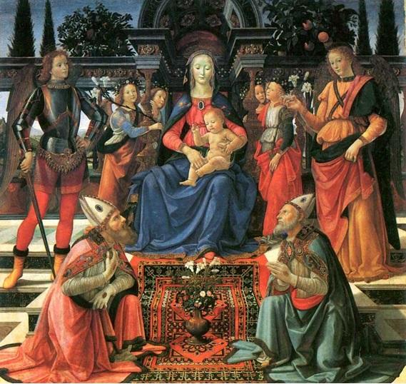 Рис. 4 Доменико Гирландайо. «Мадонна с младенцем и святыми» (1483)