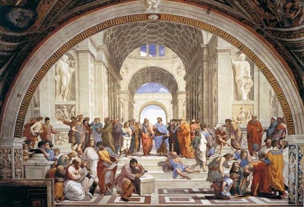 Рис. 5 Рафаэль Санти. Фреска «Афинская Школа» (1511)