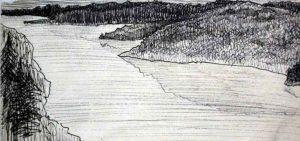 Этот широкий пролив назывался «Озеро Красавица» и после постройки плотины соединился с Ковдозером