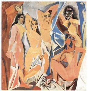 «Авиньонские девушки» Пикассо, 1907 г.; МОМА, Нью-Йорк