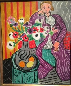 «Фиолетовый халат — анемоны» Матисса, 1937 г.; Музей искусств, Балтимор