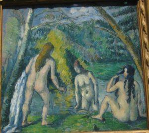 «Купальщики» Сезанна; музей Пти-пале, Париж