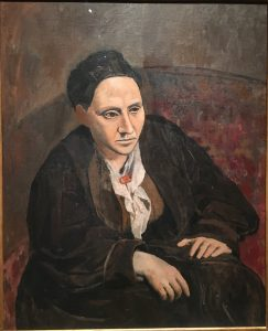 Гертруда Стайн (1874-1946); портрет работы Пикассо, 1906 г. Музей Метрополитен, Нью-Йорк.