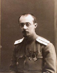 Портрет прапорщика А. А. Фридмана, преподавателя киевской военной школы лётчиков-наблюдателей. Август 1916