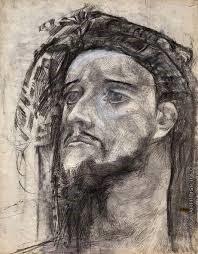 М. Врубель. Голова пророка (иллюстрация к стихотворению Лермонтова)