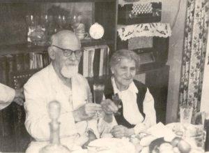 Родители ЛВА. Золотая свадьба. Москва, 1957