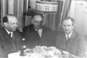 В.А. Цукерман, Л.В. Альтшулер, Ю.Б. Харитон, Саров, 1960-е гг.