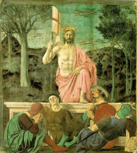 «Воскресение» Пьеро делла Франчески; 1460-е годы; Пинакотека Комунале (Museo Civico), Сансеполькро, Тоскана, Италия