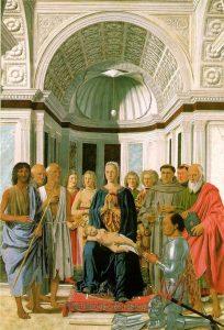 «Мадонна Брера» Франчески, 1472-1474; Пинакотека Брера, Милан, Италия