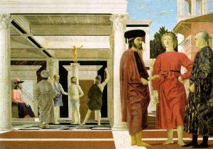 «Бичевание» Франчески, 1455-1460; Национальная галерея, Урбино, Италия