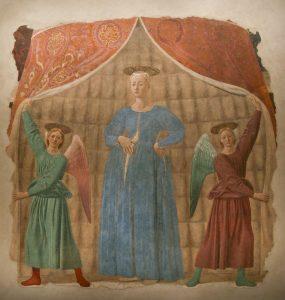 «Беременная мадонна» Франчески, после 1457 г.; Монтерчи, Тоскана, Италия