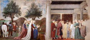 «Царь Соломон и царица Савская»: фреска из серии «История истинного креста» Франчески
