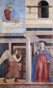 «Благовещение»: фреска из серии «История истинного креста» Франчески
