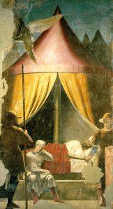 «Сон Константина»: фреска из серии «История истинного креста» Франчески