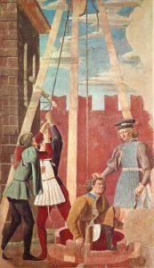 «Пытки еврея»: фреска из серии «История истинного креста» Франчески