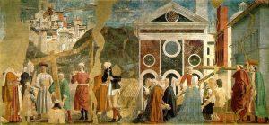 «Обнаружение животворящего креста»: фреска из серии «История истинного креста» Франчески