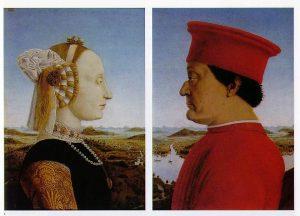 «Урбинский диптих» Франчески, 1465-1472 г.; Галерея Уффици, Флоренция, Италия