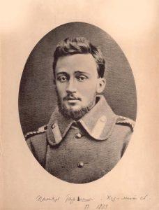 Гаршин в солдатской шинели. С фотографии 1877. Фототипия. 1889. ГЛМ