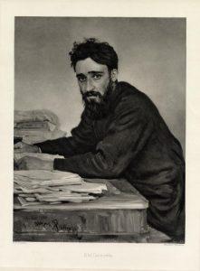Вс. Гаршин. С портрета И.Репина. 1884. Гелиогравюра. 1905