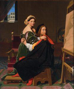 «Рафаэль и Форнарина» Энгра, 1814г.; Гарвардский музей, Кембридж, Массачусетс