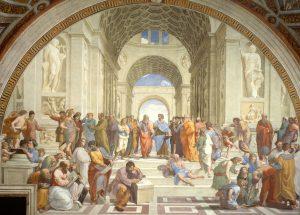 «Афинская школа» Рафаэля, 1509‒1511г.; фреска в Ватикане