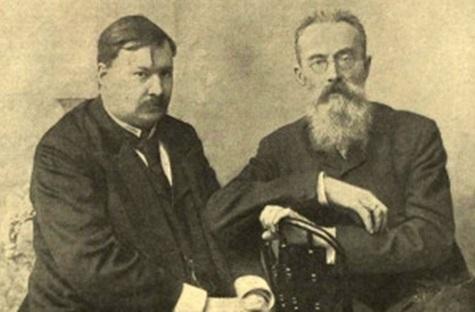 А.К. Глазунов со своим учителем Н.А. Римским-Корсаковым