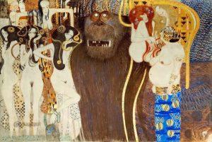 Фрагмент бетховенского фриза Климта, 1902 г; Дом сецессиона, Вена
