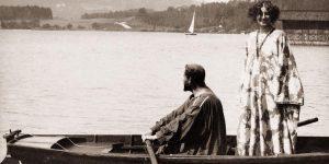Климт и Флёге на отдыхе на озере Аттерзее, 1909г.