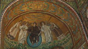 Фрагмент мозаики VI века; базилика Сан-Витале, Равенна