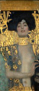 «Юдифь с головой Олоферна» («Юдифь I») Климта, 1901 г.; Галерея Бельведер, Вена