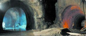 Рис.14. Строительство туннельной развилки в комплексе Гран Сассо