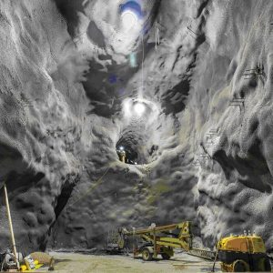 Рис.7. Подземная полость лаборатории Дэвис Кампус (до установки крепи)