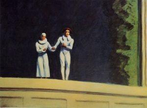 «Два комедианта». Хоппера, 1965 г.; частная коллекция