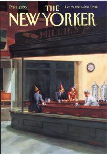 Обложка новогоднего номера журнала New Yorker на рубеже 2-го и 3-го тысячелетий нашей эры