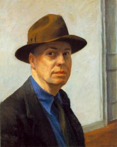 Автопортрет Хоппера, 1925-1930 г.; Музей американского искусства Уитни, Нью-Йорк