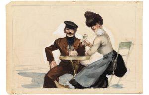 Парижская зарисовка Хоппера, 1909г.; Дом-музей Хоппера, Наяк, штат Нью-Йорк