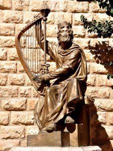 Статуя царя Давида в Иерусалиме на горе Сион, фото Ferrell Jenkins